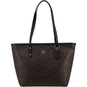 NWT Coach Large Signature City Zip Tote